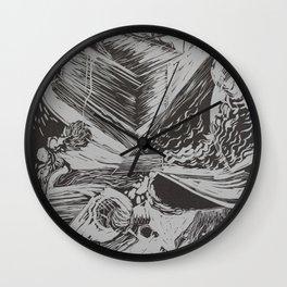 linocut#2 Wall Clock