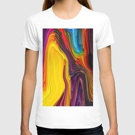 Melting Pot of Colors Abstract T-shirt