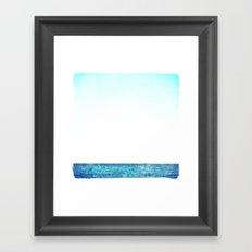 summer sail (blue) Framed Art Print