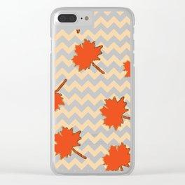 Crisp falling leaves Clear iPhone Case
