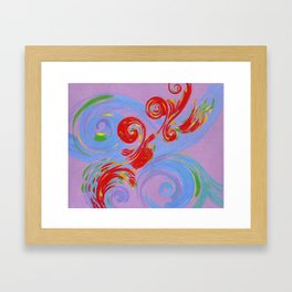 Painted Music Framed Art Print