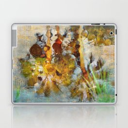 Palm Trees in Pond Laptop & iPad Skin