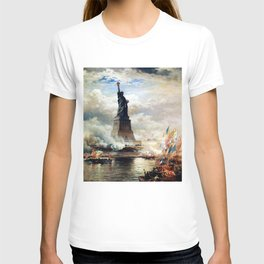 Statue of Liberty Unveiled by Edward Moran T-shirt