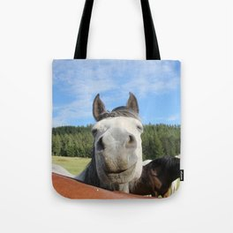 Horse Smile Photography Print Tote Bag