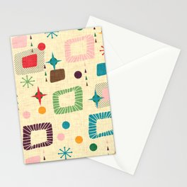 Atomic pattern Stationery Cards