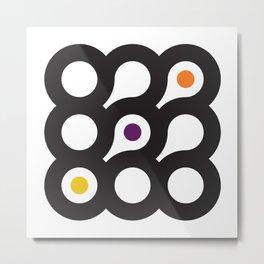 Circles 3x3 #8 Metal Print