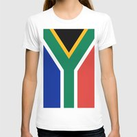 south africa T-shirts featuring Flag of South Africa by Neville Hawkins