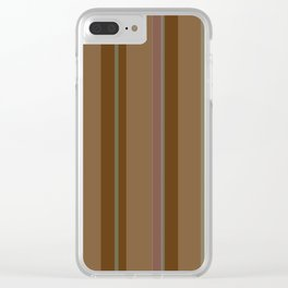 Chocolate Stripes Clear iPhone Case