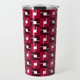 Geometric Pattern #257 (red boxes) Travel Mug