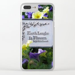 Earth's Laughter Clear iPhone Case