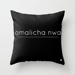 omalicha nwa Throw Pillow