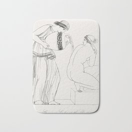 Grecian lady at the bath from An  of the Egyptian Grecian and Roman costumes by Thomas Baxter (1782- Bath Mat