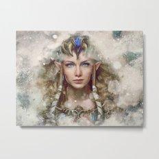 Epic Princess Zelda from Legend of Zelda Painting Metal Print