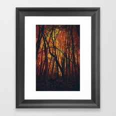 Fall on Fire Framed Art Print