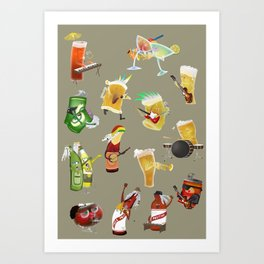 beer and music Art Print