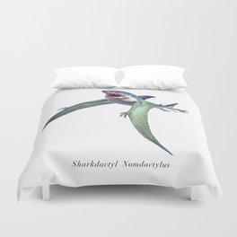 Sharkdactyl Nomdactylus Duvet Cover