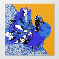 pigeon Canvas Prints featuring Pigeon by Aimee St Hill