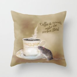 Coffee and Friends make the perfect Blend Throw Pillow