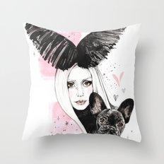 Bat Pig Throw Pillow