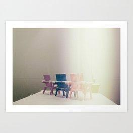 """""""White-out""""  Art Print"""