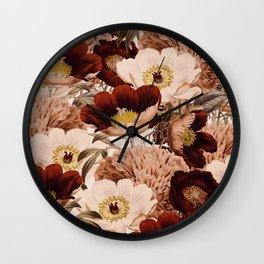 Vintage Garden 2 #society6 Wall Clock