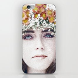 Face flower iPhone Skin