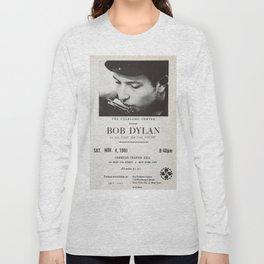 Vintage 1961 Bob Dylan Carnegie Hall Folk Festival Concert Gig Poster Long Sleeve T-shirt