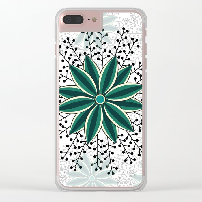 Pattern V Clear iPhone Case