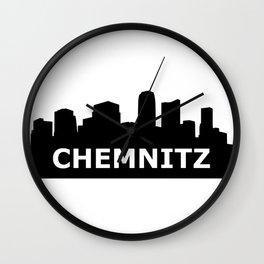 Chemnitz Skyline Wall Clock