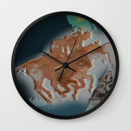 Riders II Wall Clock