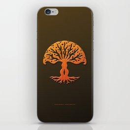 Tree of Life Woodcut iPhone Skin