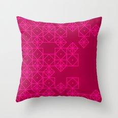Geometric Pinks Throw Pillow