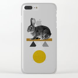 Tribal Rabbit Clear iPhone Case