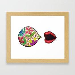 Say What?! Framed Art Print