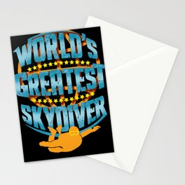 Skydiving World's Greatest Skydiver Adventure Seeker Gift Stationery Cards