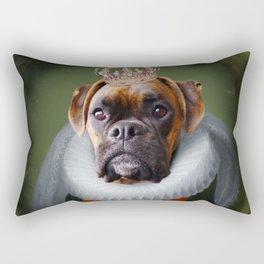Queen Charlie - Boxer Dog Portrait Rectangular Pillow