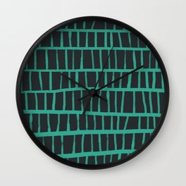 green pattern Wall Clock