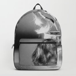 Jazz Age Blond Sipping Champagne black and white photograph / photography Backpack