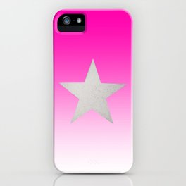 Star  Glitter effect  Pink  White iPhone Case