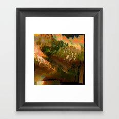 06-04-18 (Mountain Glitch) Framed Art Print