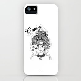 Gemini Zodiac iPhone Case