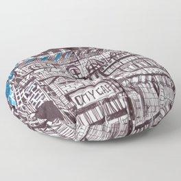 City cafe Floor Pillow