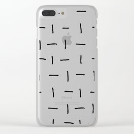 Flip Flop Lines Clear iPhone Case