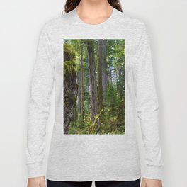 Cathedral Grove, Vancouver Island BC Long Sleeve T-shirt
