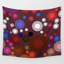 Retro Multi Color Bubbles Wall Tapestry