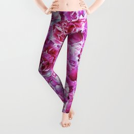 Lovely pink peonies Leggings