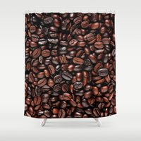 coffee Shower Curtains featuring Coffee by Vickn