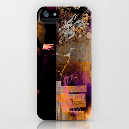 CHAOS WOMAN - Composing with vector design and photo manip iPhone Case