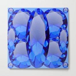 SEPTEMBER BLUE SAPPHIRE GEMS BIRTHSTONES Metal Print