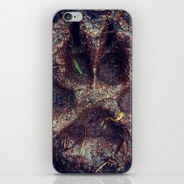 Muddy Paw Print iPhone Skin